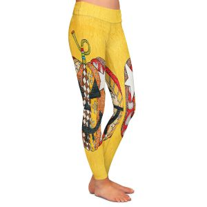 Casual Comfortable Leggings | Marley Ungaro - Pumpkin Gold | Halloween spooky pattern abstract