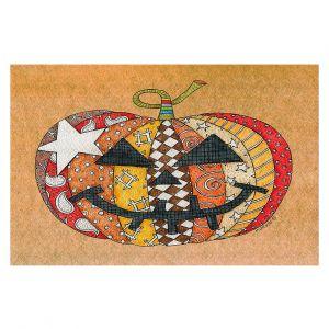Decorative Floor Covering Mats | Marley Ungaro - Pumpkin Tan | Halloween spooky pattern abstract