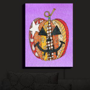 Nightlight Sconce Canvas Light | Marley Ungaro - Pumpkin Violet