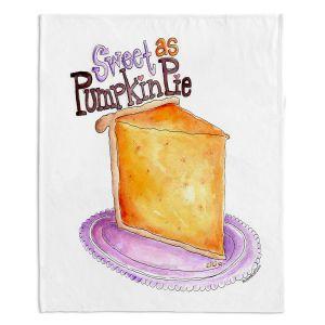 Decorative Fleece Throw Blankets | Marley Ungaro - Pumpkin Pie | still life food sweets dessert