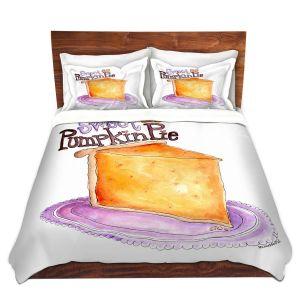 Artistic Duvet Covers and Shams Bedding | Marley Ungaro - Pumpkin Pie | still life food sweets dessert