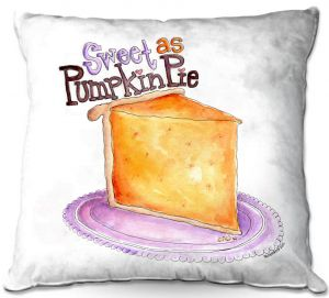 Decorative Outdoor Patio Pillow Cushion | Marley Ungaro - Pumpkin Pie | still life food sweets dessert