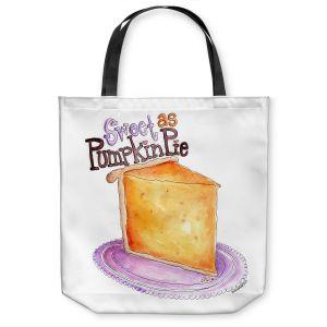 Unique Shoulder Bag Tote Bags | Marley Ungaro - Pumpkin Pie | still life food sweets dessert