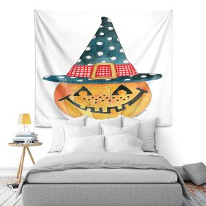 Artistic Wall Tapestry | Marley Ungaro - Pumpkin Witch | halloween spooky holidays
