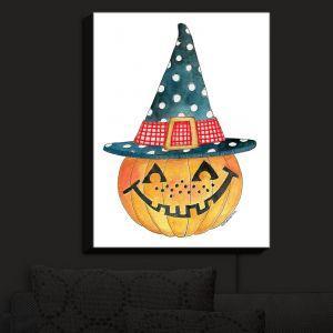 Nightlight Sconce Canvas Light | Marley Ungaro - Pumpkin Witch