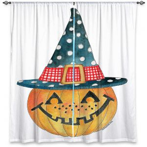Decorative Window Treatments | Marley Ungaro - Pumpkin Witch | halloween spooky holidays