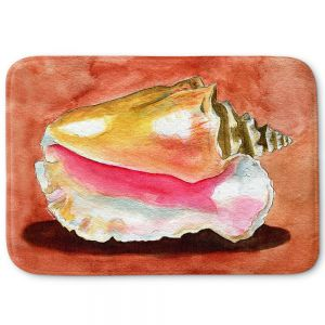 Decorative Bathroom Mats | Marley Ungaro - Queen Conch | Ocean seashell still life nature