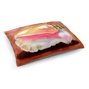 Decorative Dog Pet Beds | Marley Ungaro - Queen Conch | Ocean seashell still life nature