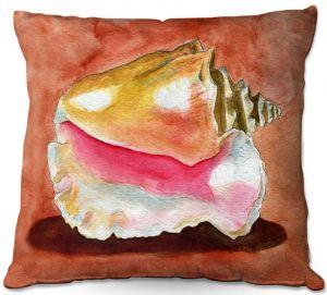 Throw Pillows Decorative Artistic | Marley Ungaro - Queen Conch | Ocean seashell still life nature