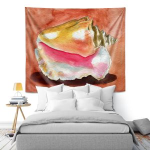 Artistic Wall Tapestry | Marley Ungaro - Queen Conch | Ocean seashell still life nature