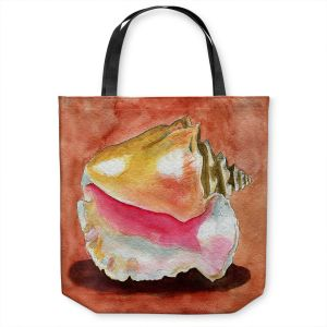 Unique Shoulder Bag Tote Bags | Marley Ungaro - Queen Conch | Ocean seashell still life nature