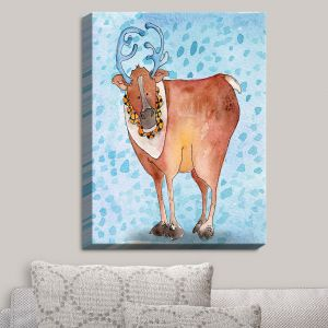 Decorative Canvas Wall Art | Marley Ungaro - Reindeer Blue