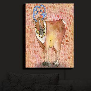 Nightlight Sconce Canvas Light | Marley Ungaro - Reindeer Buckskin | Santa Christmas