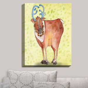 Decorative Canvas Wall Art | Marley Ungaro - Reindeer Chartreuse
