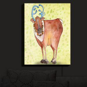 Nightlight Sconce Canvas Light | Marley Ungaro - Reindeer Chartreuse | Santa Christmas