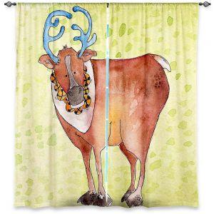 Decorative Window Treatments | Marley Ungaro Reindeer Chartreuse