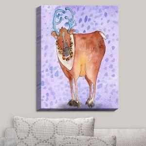 Decorative Canvas Wall Art | Marley Ungaro - Reindeer Purple