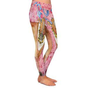 Casual Comfortable Leggings | Marley Ungaro Reindeer Raspberry
