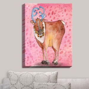 Decorative Canvas Wall Art | Marley Ungaro - Reindeer Raspberry