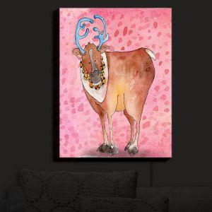 Nightlight Sconce Canvas Light | Marley Ungaro - Reindeer Raspberry | Santa Christmas