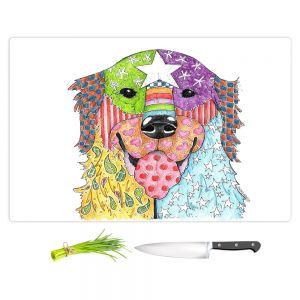 Artistic Kitchen Bar Cutting Boards | Marley Ungaro - Golden Retriever Dog White