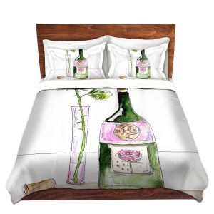 Artistic Duvet Covers and Shams Bedding | Marley Ungaro - Rose Wine