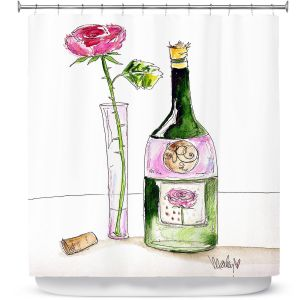 Premium Shower Curtains | Marley Ungaro Rose Wine