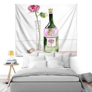 Artistic Wall Tapestry | Marley Ungaro Rose Wine
