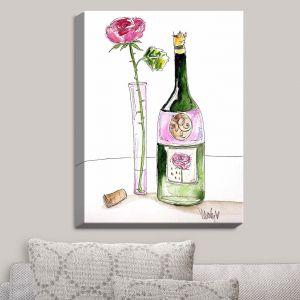 Decorative Canvas Wall Art | Marley Ungaro - Rose Wine