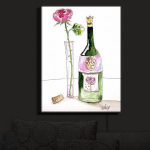Nightlight Sconce Canvas Light | Marley Ungaro's Rose Wine