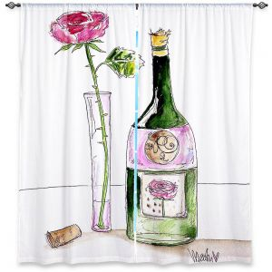 Decorative Window Treatments | Marley Ungaro Rose Wine