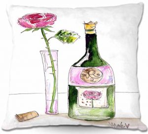 Throw Pillows Decorative Artistic | Marley Ungaro Rose Wine