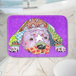 Decorative Bathroom Mats | Marley Ungaro - Rottweiller Dog Purple