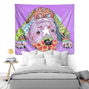 Artistic Wall Tapestry   Marley Ungaro Rottweiller Dog Violet