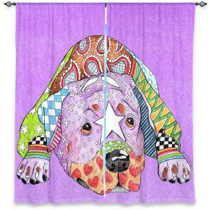Decorative Window Treatments | Marley Ungaro Rottweiller Dog Violet