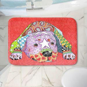 Decorative Bathroom Mats | Marley Ungaro - Rottweiller Dog Watermelon