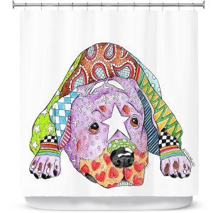 Premium Shower Curtains | Marley Ungaro Rottweiller Dog