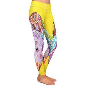 Casual Comfortable Leggings | Marley Ungaro Rottweiller Dog Yellow