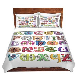 Artistic Duvet Covers and Shams Bedding | Marley Ungaro - Royal Whimsies Alphabet