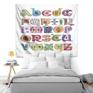 Artistic Wall Tapestry | Marley Ungaro - Royal Whimsies Alphabet