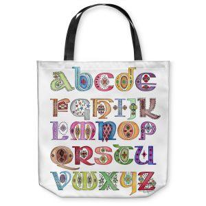 Unique Shoulder Bag Tote Bags | Marley Ungaro - Royal Whimsies Alphabet