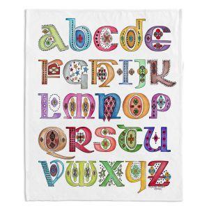 Artistic Sherpa Pile Blankets | Marley Ungaro - Royal Whimsies Alphabet