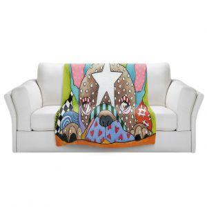 Artistic Sherpa Pile Blankets   Marley Ungaro - Sad French Bulldog   Dog animal pattern abstract whimsical