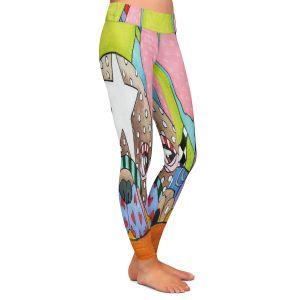 Casual Comfortable Leggings | Marley Ungaro - Sad French Bulldog | Dog animal pattern abstract whimsical