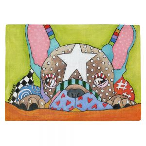 Countertop Place Mats | Marley Ungaro - Sad French Bulldog | Dog animal pattern abstract whimsical