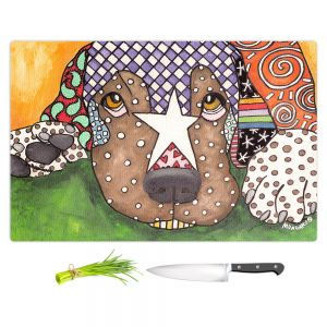 Artistic Kitchen Bar Cutting Boards | Marley Ungaro - Sad Labrador Retriever | Dog animal pattern abstract whimsical