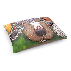 Decorative Dog Pet Beds   Marley Ungaro - Sad Labrador Retriever   Dog animal pattern abstract whimsical