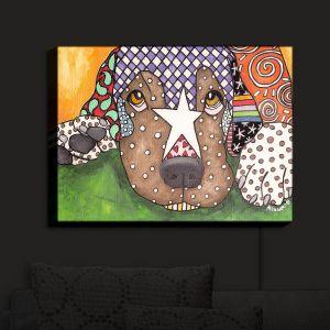 Nightlight Sconce Canvas Light | Marley Ungaro - Sad Labrador Retriever