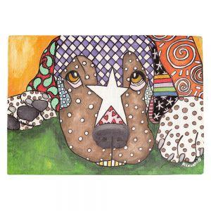 Countertop Place Mats | Marley Ungaro - Sad Labrador Retriever | Dog animal pattern abstract whimsical