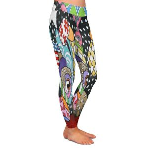 Casual Comfortable Leggings | Marley Ungaro - Sad Pug Dog | Dog animal pattern abstract whimsical